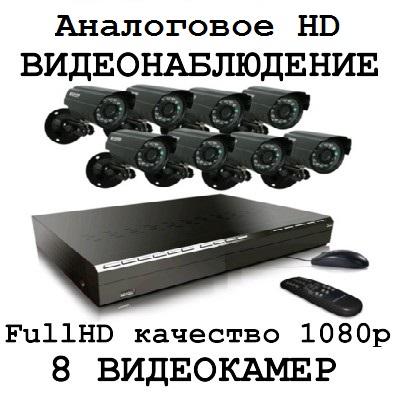 Full HD качество 1080p 8 видеокамеры